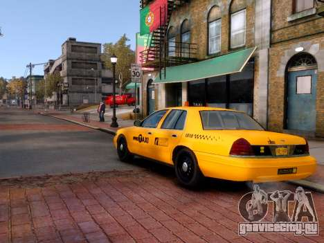 Ford Crown Victoria NYC Taxi 2013 для GTA 4 вид слева
