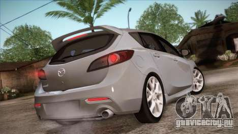 Mazda Mazdaspeed3 2010 для GTA San Andreas вид снизу