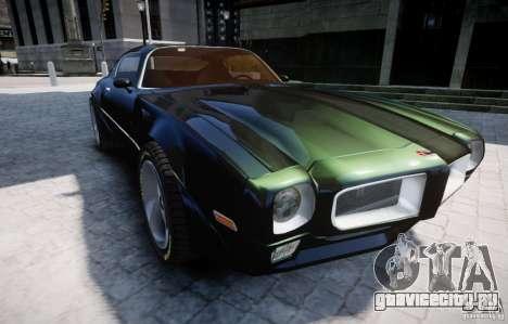 Pontiac Firebird 1971 для GTA 4 вид сбоку