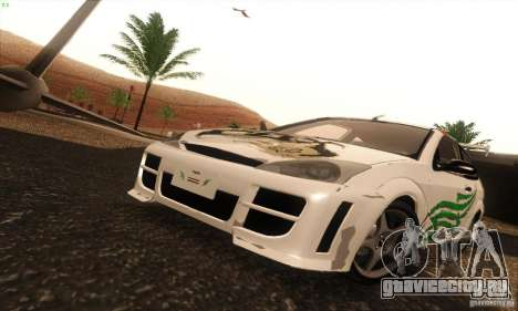 Ford Focus SVT TUNEABLE для GTA San Andreas вид изнутри