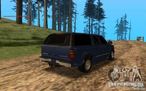 Chevrolet Suburban 2006 для GTA San Andreas вид сзади слева