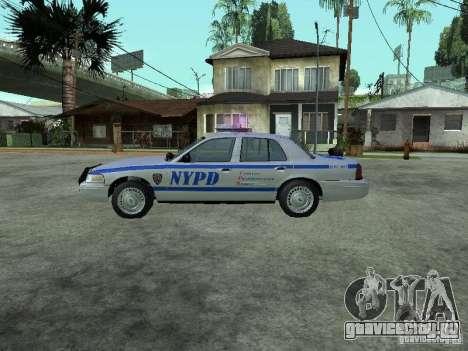 Ford Crown Victoria NYPD для GTA San Andreas вид слева