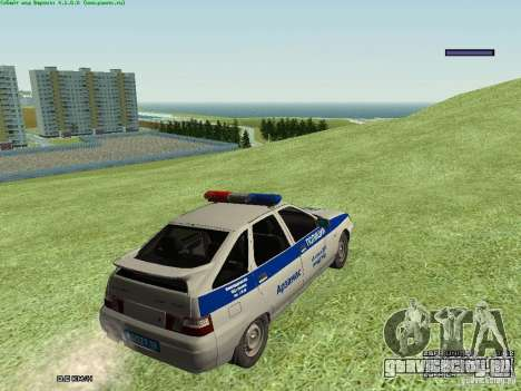 ВАЗ 2112 ДПС Полиция для GTA San Andreas вид справа