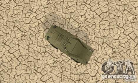 БРДМ-1 Скин 1 для GTA San Andreas вид изнутри