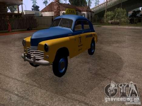 ГАЗ М20 Победа Такси для GTA San Andreas вид справа