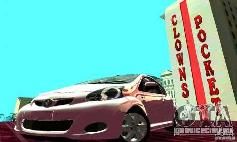 Toyota Aygo V1.0 для GTA San Andreas вид изнутри