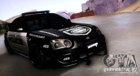 Subaru Impreza WRX STI Police Speed Enforcement для GTA San Andreas
