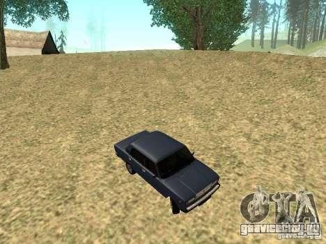 ВАЗ 2107 v 1.1 для GTA San Andreas вид изнутри