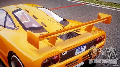 Mc Laren F1 LM v1.0 для GTA 4 вид снизу
