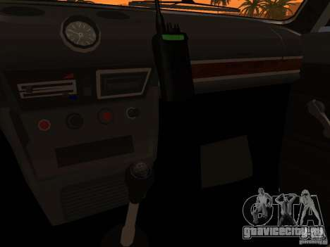 ВАЗ 2106 Полиция v2.0 для GTA San Andreas салон