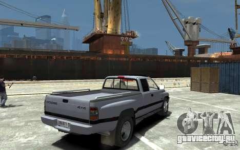 Dodge Ram 3500 1994 для GTA 4 вид справа
