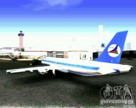 Airbus A-320 Azerbaijan Airlines для GTA San Andreas вид сзади