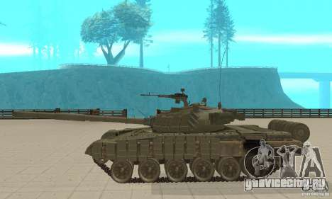 Танк Т-72Б для GTA San Andreas вид слева