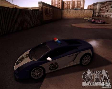Lamborghini Gallardo LP560-4 Undercover Police для GTA San Andreas вид слева