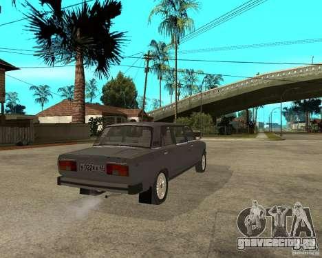 ВАЗ 2105 Лимузин для GTA San Andreas вид сзади слева