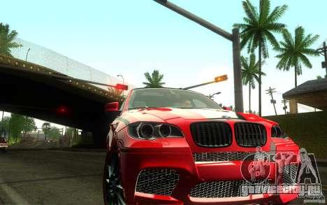 Bmw X6 M Lumma Tuning для GTA San Andreas вид сзади