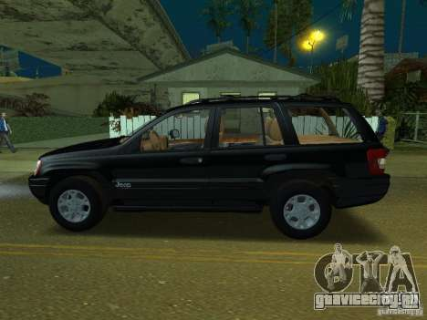 Jeep Grand Cherokee для GTA San Andreas вид слева