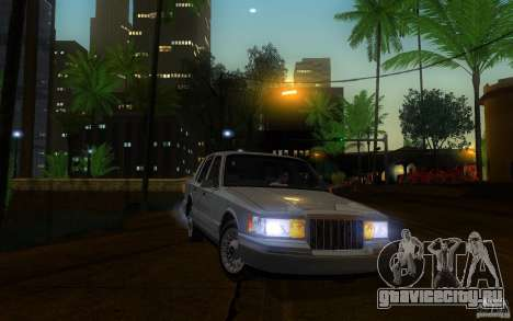 Lincoln Towncar 1991 для GTA San Andreas вид изнутри