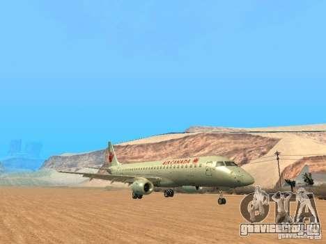 Embraer ERJ 190 Air Canada для GTA San Andreas вид сзади слева