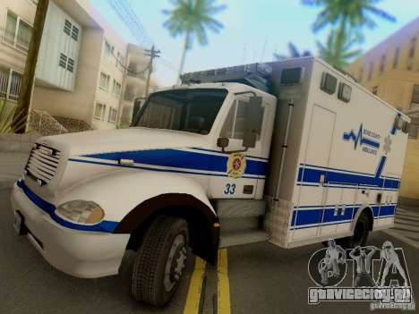 Freightliner Bone County Police Fire Medical для GTA San Andreas вид сзади слева