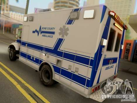 Freightliner Bone County Police Fire Medical для GTA San Andreas вид справа