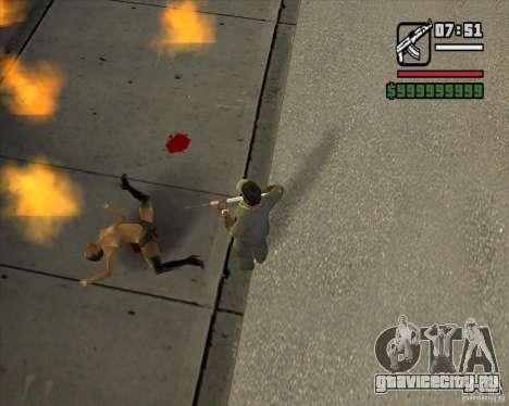 Real Ragdoll Mod Update 2011.09.15 для GTA San Andreas второй скриншот