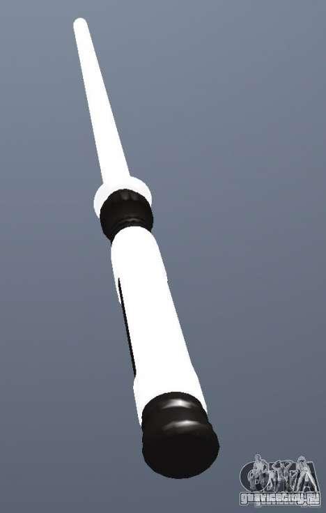 Lightsabre v2 White для GTA San Andreas второй скриншот