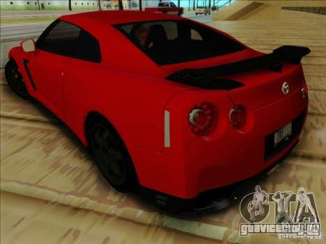 Nissan GTR Egoist 2011 для GTA San Andreas вид сзади