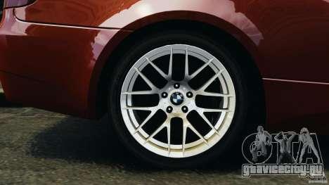 BMW M3 GTS 2010 для GTA 4 вид сбоку