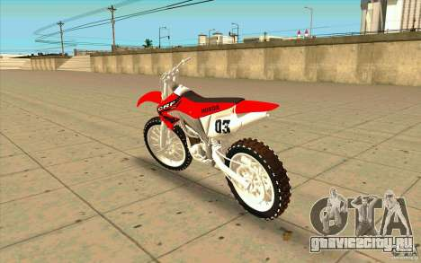 Honda CRF450R Extreme Edition FINAL для GTA San Andreas вид сзади слева