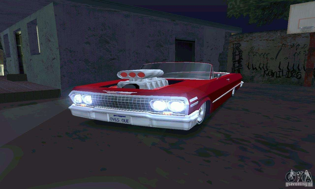 Chevrolet Impala 1963 Lowrider Charged для GTA San Andreas
