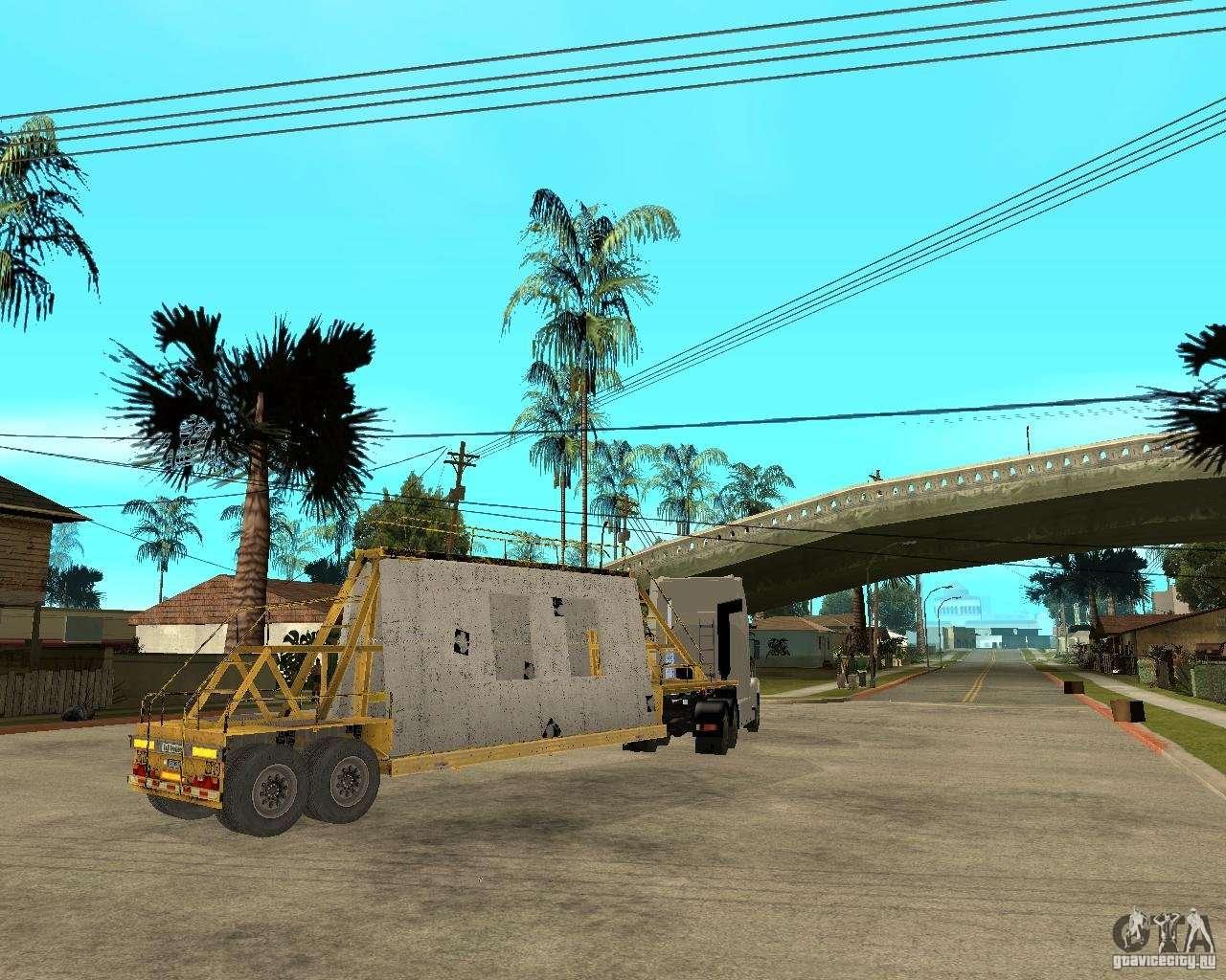Патч прицепов v_1 для GTA San Andreas вид сзади.