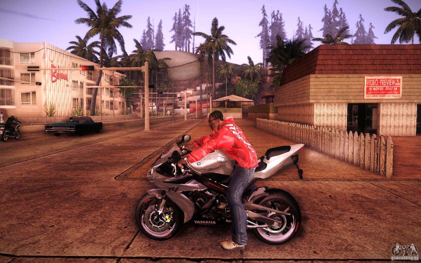 Скачать мод на мотоцикл для гта са
