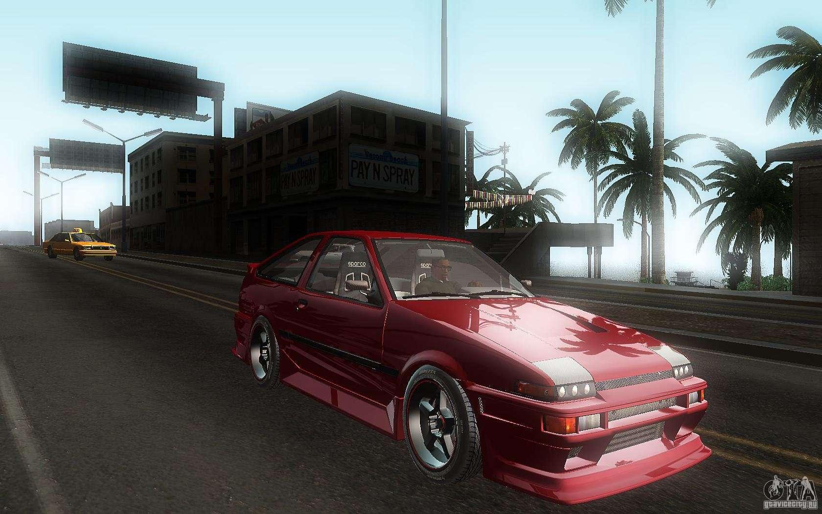 Toyota ae86 gta sa download