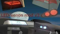 LED-xenon mod v3.0 для GTA San Andreas