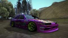 Nissan Silvia S13 Team Burst для GTA San Andreas