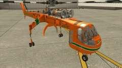 Sikorsky Air-Crane S-64E для GTA San Andreas