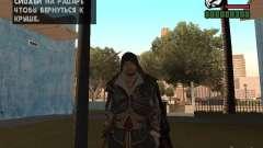 Эцио Аудиторе в броне Альтаира для GTA San Andreas