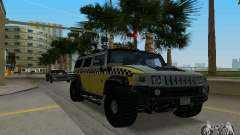 Hummer H2 SUV Taxi для GTA Vice City