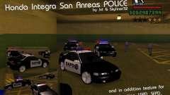 Honda Integra 1996 SA POLICE для GTA San Andreas