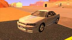 Nissan Skyline R34 Tunable для GTA San Andreas