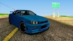 Nissan Skyline R34 Z-Tune V3 для GTA San Andreas