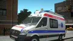 Mercedes-Benz Sprinter Azerbaijan Ambulance v0.2 для GTA 4
