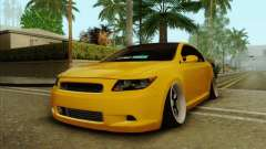 Scion tC 2012 жёлтый для GTA San Andreas