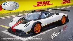 Pagani Zonda R 2009 Italian Stripes для GTA 4
