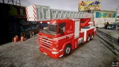 Scania Fire Ladder v1.1 Emerglights red [ELS] для GTA 4