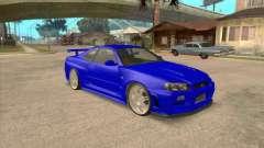 Nissan Skyline GT-R R34 from FnF 4 v.2.0 для GTA San Andreas