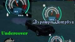 Спидометр из NFS Undercover для GTA San Andreas