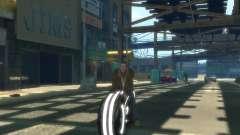 Мотоцикл из Трон (серый неон)