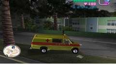 Ford Econoline E350 Ambulance для GTA Vice City